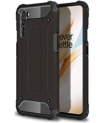 OnePlus Nord Hoesje Shock Proof Hybride Backcover Zwart