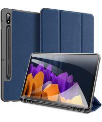 Dux Ducis Domo Series Samsung Galaxy Tab S7 Plus Tri-fold Hoes Blauw