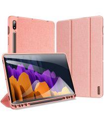 Dux Ducis Domo Series Samsung Galaxy Tab S7 Plus Tri-fold Hoes Roze
