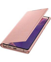 Origineel Samsung Galaxy Note 20 Hoesje LED View Cover Copper Bruin