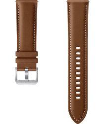 Origineel Samsung Universeel Smartwatch 22MM Bandje Premium Leer Bruin