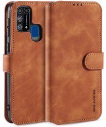 DG Ming Retro Portemonnee Samsung Galaxy M31 Hoesje Bruin