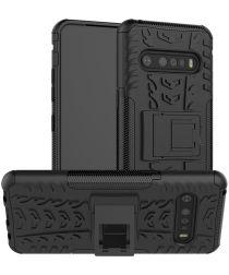 Robuust Hybride LG V60 ThinQ Hoesje Zwart