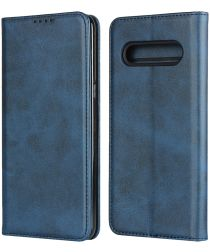 LG V60 ThinQ Portemonnee Stand Hoesje Blauw