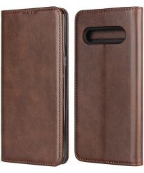 LG V60 ThinQ Portemonnee Stand Hoesje Coffee
