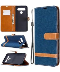 LG K61 Jeans Portemonnee Hoesje Blauw