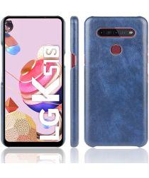 LG K51S Hoesje met Kunstleer Coating Blauw