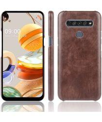 LG K61 Hoesje met Kunstleer Coating Bruin