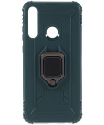 Huawei Y6p Kickstand Back Cover Groen