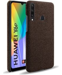 Huawei Y6p Stof Hard Back Cover Coffee