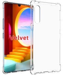 LG Velvet Hoesje Schokbestendig en Dun TPU Transparant