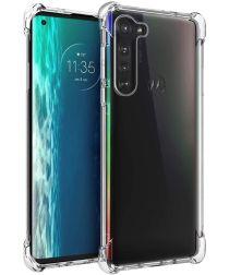 Motorola Edge Hoesje Schokbestendig en Dun TPU Transparant