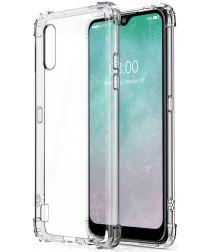 Samsung Galaxy A01 Hoesje Schokbestendig en Dun TPU Transparant