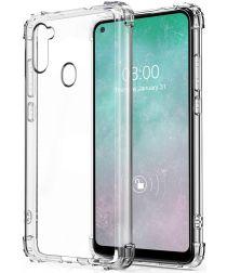 Samsung Galaxy A11 Hoesje Schokbestendig en Dun TPU Transparant
