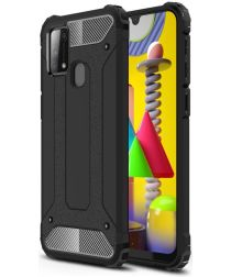 Samsung Galaxy M31 Hoesje Shock Proof Hybride Backcover Zwart