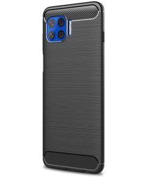 Motorola Moto G 5G Plus Hoesje Geborsteld TPU Back Cover Zwart