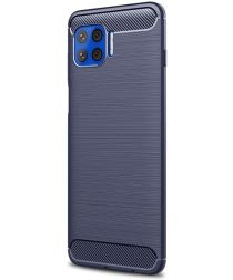 Motorola Moto G 5G Plus Hoesje Geborsteld TPU Back Cover Blauw