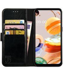 Rosso Element LG K61 Hoesje Book Cover Wallet Case Zwart
