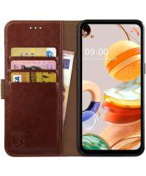 Rosso Element LG K61 Hoesje Book Cover Wallet Case Bruin