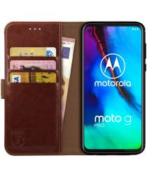 Rosso Element Motorola Moto G Pro Hoesje Book Cover Wallet Case Bruin