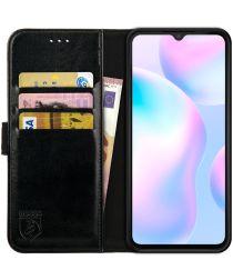 Rosso Element Xiaomi Redmi 9A Hoesje Book Cover Wallet Case Zwart