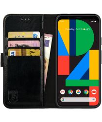 Rosso Element Google Pixel 4A Hoesje Book Cover Wallet Case Zwart