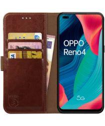 Rosso Element Oppo Reno 4 Hoesje Book Cover Wallet Case Bruin