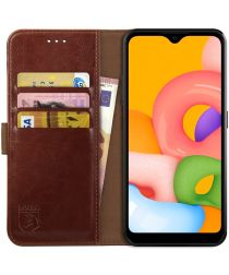 Rosso Element Samsung Galaxy A01 Hoesje Book Cover Wallet Case Bruin