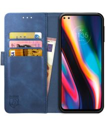 Rosso Element Motorola Moto G 5G Plus Hoesje Book Cover Blauw