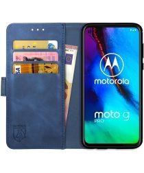 Rosso Element Motorola Moto G Pro Hoesje Book Cover Blauw