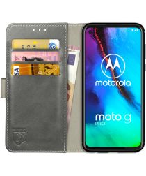 Rosso Element Motorola Moto G Pro Hoesje Book Cover Grijs