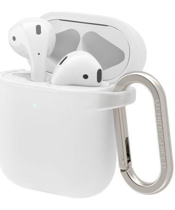 RhinoShield Apple AirPods Hard Plastic Hoesje Wit Hoesjes