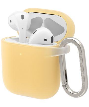 RhinoShield Apple AirPods Hard Plastic Hoesje Geel Hoesjes