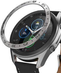 Ringke Bezel Styling Galaxy Watch 3 45MM Randbeschermer RVS Zilver