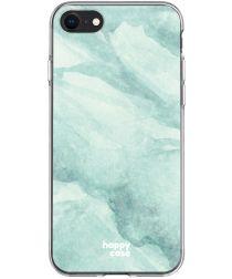 HappyCase Apple iPhone SE 2020 Hoesje Flexibel TPU Mint Groen Print