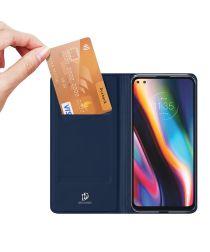 Dux Ducis Skin Pro Series Motorola Moto G 5G Plus Wallet Hoesje Blauw