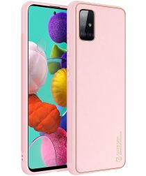 Dux Ducis Yolo Series Samsung Galaxy A71 Hoesje Backcover Roze