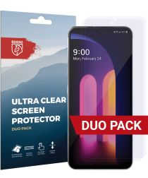 Rosso LG V60 ThinQ Ultra Clear Screen Protector Duo Pack