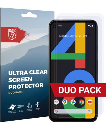Rosso Google Pixel 4A Ultra Clear Screen Protector Duo Pack