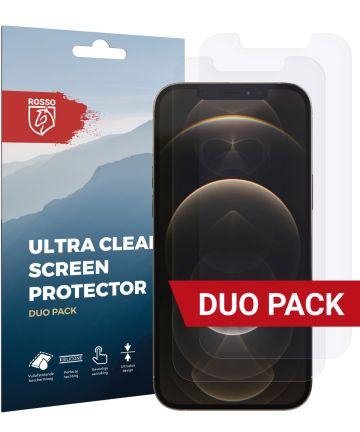 Rosso Apple iPhone 12 Pro Max Ultra Clear Screen Protector Duo Pack Screen Protectors