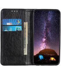 Huawei P40 Lite E Crazy Horse Leather Wallet Case Zwart