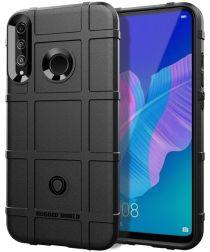 Huawei P40 Lite E Hoesje Shock Proof Rugged Shield Zwart