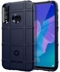 Huawei P40 Lite E Hoesje Shock Proof Rugged Shield Blauw