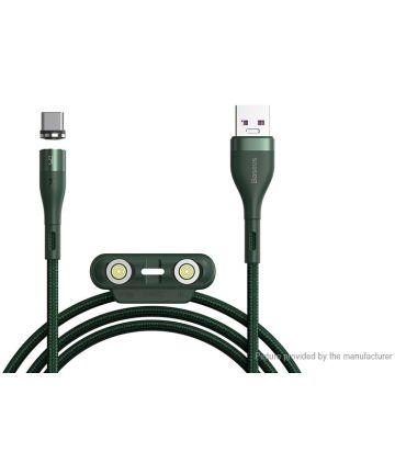 Baseus Zinc Magnetische 3-in-1 Fast Charging Kabel 5A 1 Meter Groen Kabels