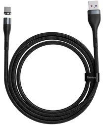Baseus Zinc Magnetische USB-C 5A Fast Charging Data Kabel 1Meter Zwart