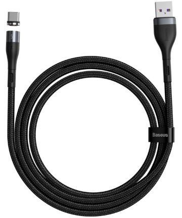 Baseus Zinc Magnetische USB-C 5A Fast Charging Data Kabel 1Meter Zwart Kabels