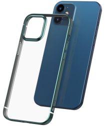 Baseus Shining Apple iPhone 12 Mini Hoesje TPU Transparant Groen