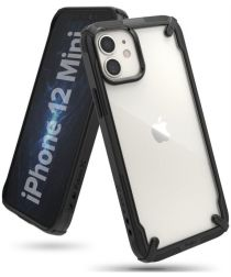Ringke Fusion X Apple iPhone 12 Mini Hoesje Transparant/Zwart