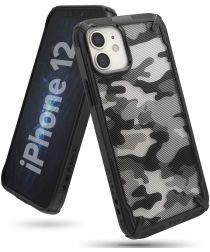 Ringke Fusion X Apple iPhone 12 Mini Hoesje Camo Zwart