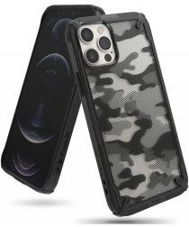 Ringke Fusion X Apple iPhone 12 / 12 Pro Hoesje Camo Zwart